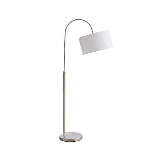 Petite Brushed Nickel Adjustable Arc Floor Lamp - Crate and Barrel