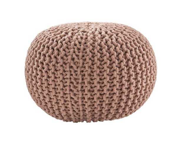 Spectrum Pouf Textured Blush Round Pouf - Collective Weavers