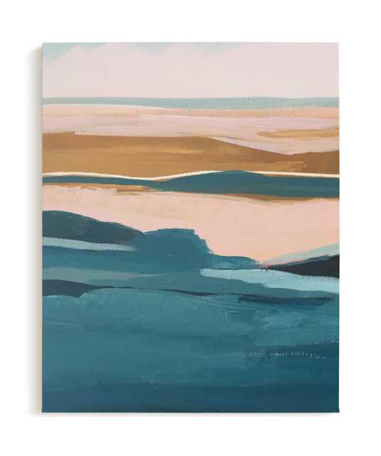 Golden Seascape Diptych I Canvas Art Print - Minted