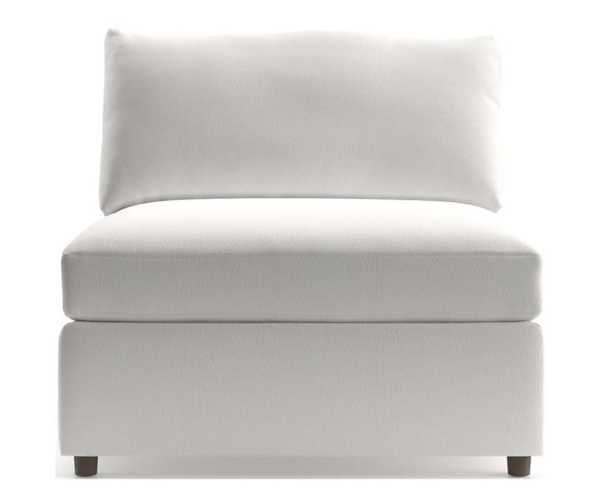 """Lounge II Petite 37"""" Armless Chair- View, White - Crate and Barrel"""