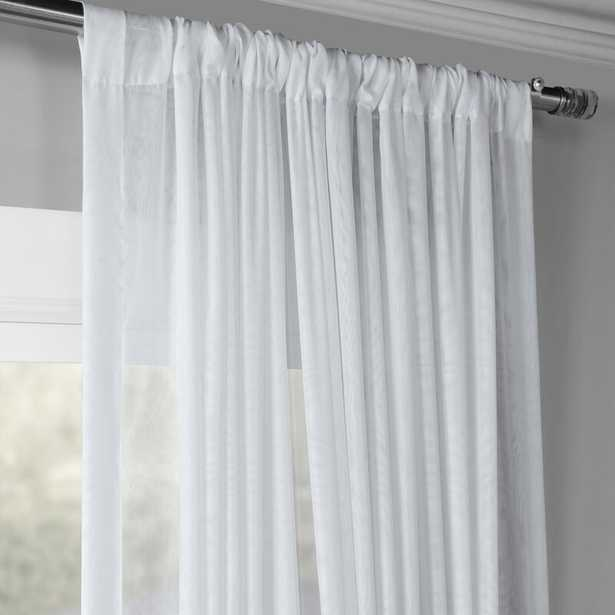 Apollo Extra Wide Double Layered Solid Color Sheer Rod Pocket Single Curtain Panel - Wayfair