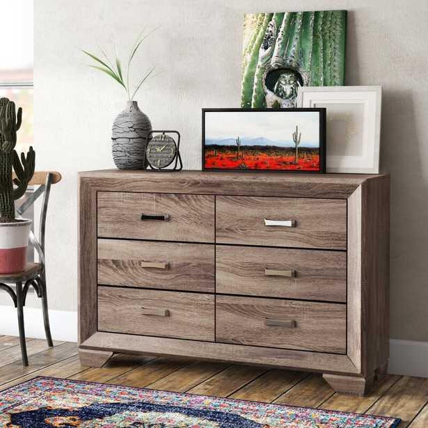 Barnsdall 6 Drawer Double Dresser - Wayfair