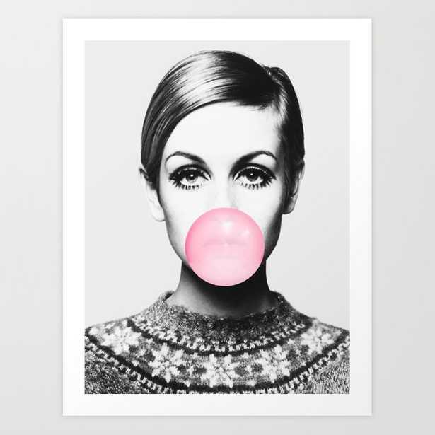 Twiggy Bubblegum Art Print - Society6