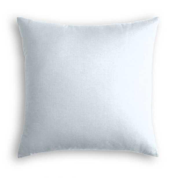 LIGHT BLUE CLASSIC LINEN THROW PILLOW - Linen & Seam