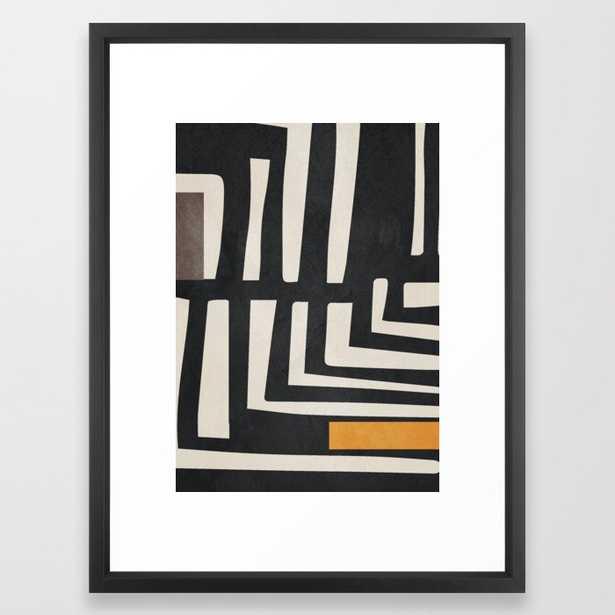 """Abstract Art 16 Framed Art Printt - Vector Black - 20""""x26"""" - Society6"""