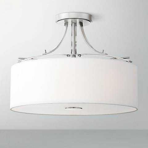 "Poleis 16 1/2"" Wide Brushed Nickel Ceiling Light - Lamps Plus"