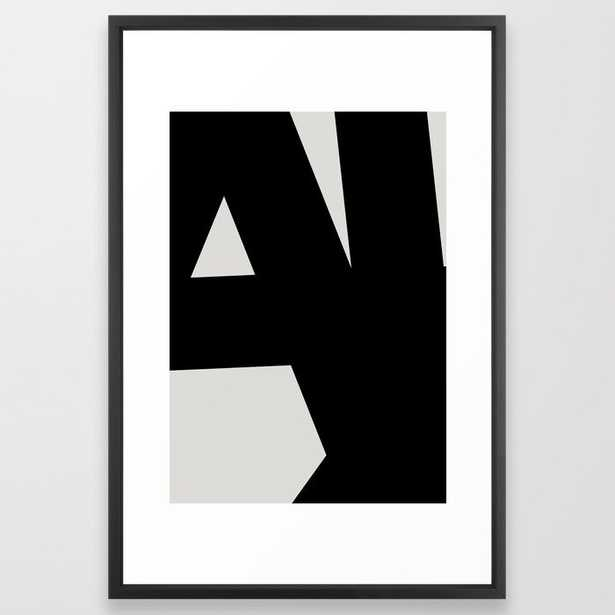 Abstract Form 01 Framed Art Print, 26x38 black vector frame - Society6
