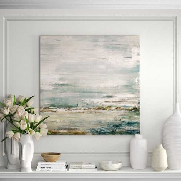 """John Beard Collection 'Sea and Sky' Painting on Canvas Size: 40"""" H x 40"""" W x 1.5"""" D - Perigold"""