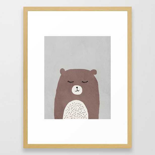 Bear - Mid century modern kids art - Children's art - Kids decor - Nursery room Framed Art Print - Society6
