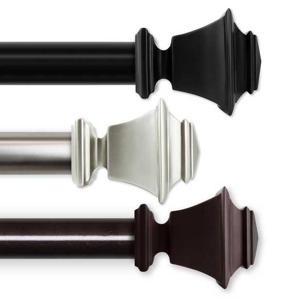 Rod Desyne Bach 1.5 in. Non-Telescoping Curtain Rod 15 ft. in Black - Home Depot