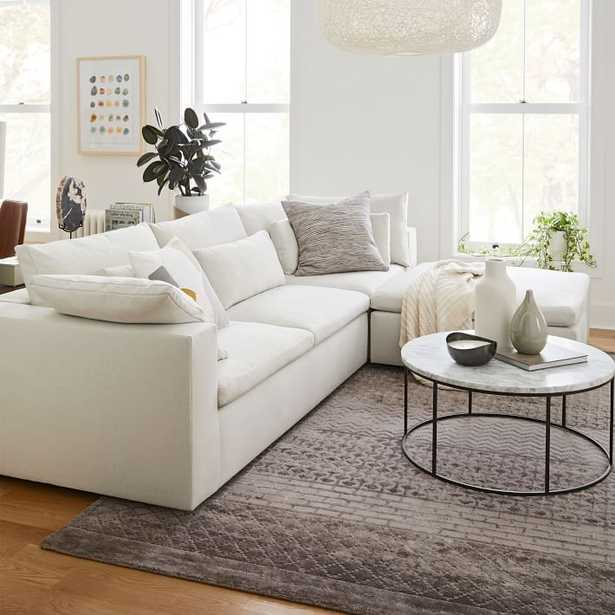 Harmony Modular 3-Piece Chaise Sectional, Performance Stone White - West Elm