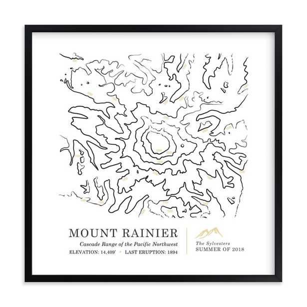 Inked Topography - Mount Ranier - Minted