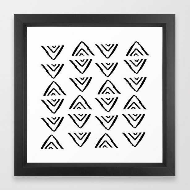 Mudcloth 16 - Vector Black Frame - Society6