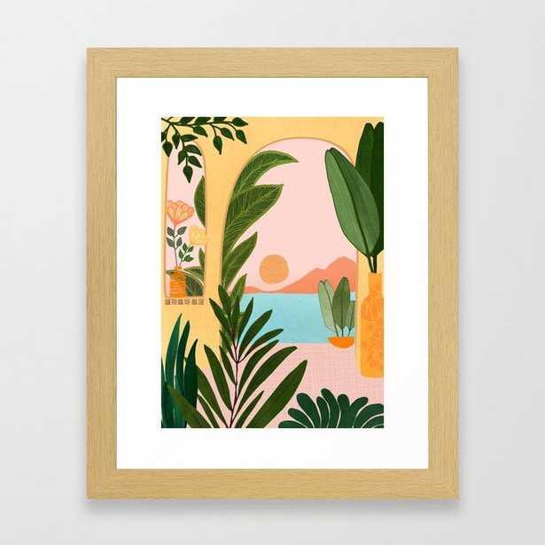 Moroccan Coast - Tropical Sunset Scene Framed Art Print - Society6