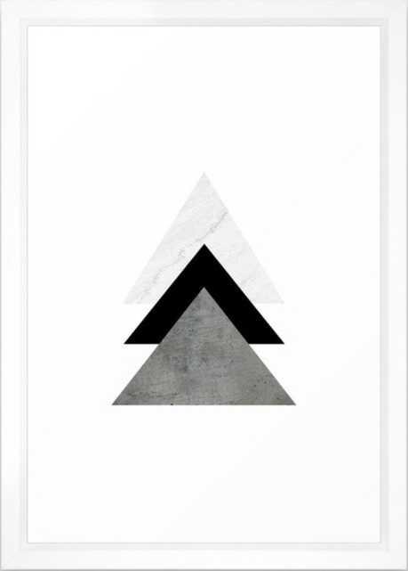 "Arrows Monochrome Collage Framed Art Print, 15"" x 21"" - Society6"
