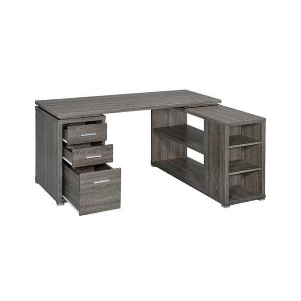 Senga L-Shape Executive Desk - Wayfair