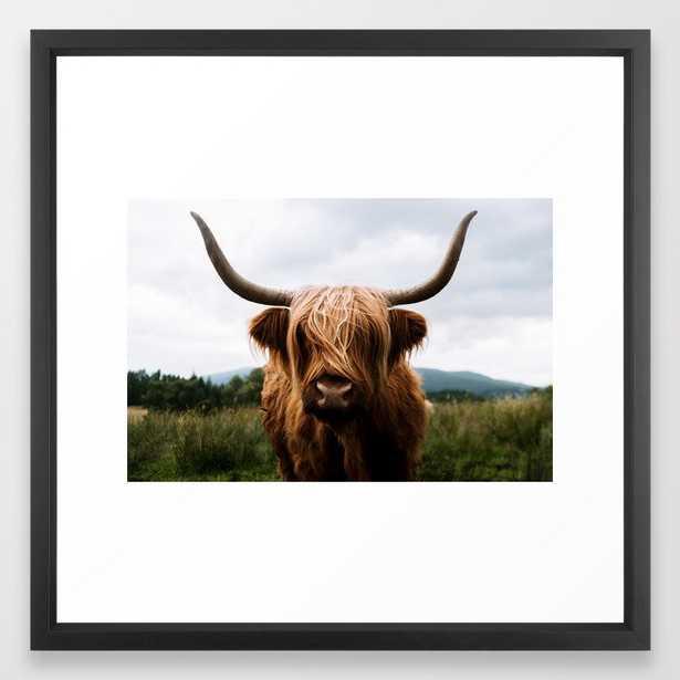 Scottish Highland Cattle in Scotland Portrait II Framed Art Print by Michael Schauer - Society6