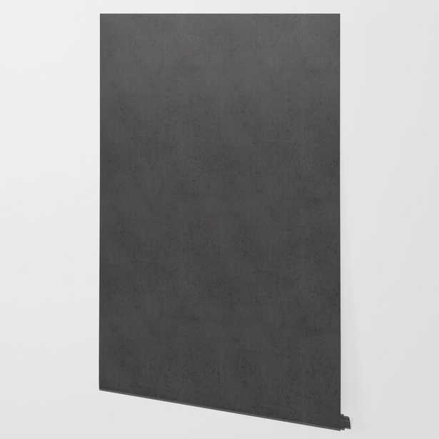 Charcoal Concrete Wallpaper, Peel and Stick, 2' x 10' - Society6