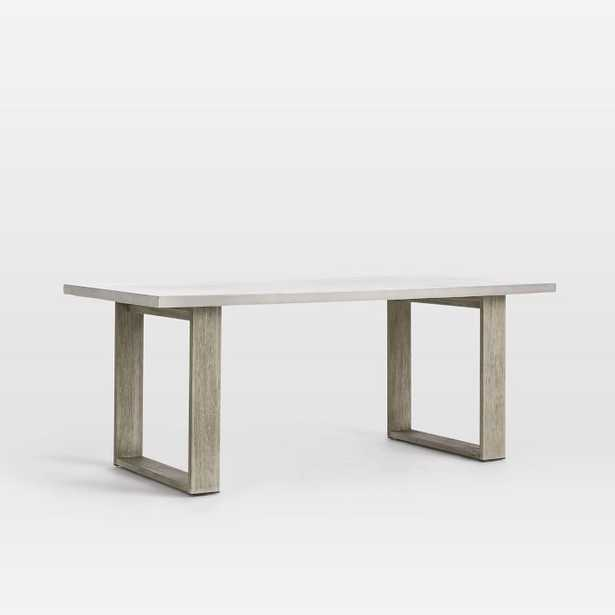 Concrete Outdoor Dining Table, Weathered Gray - West Elm