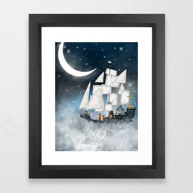 a nautical adventure (above the clouds) Framed Art Print - Society6