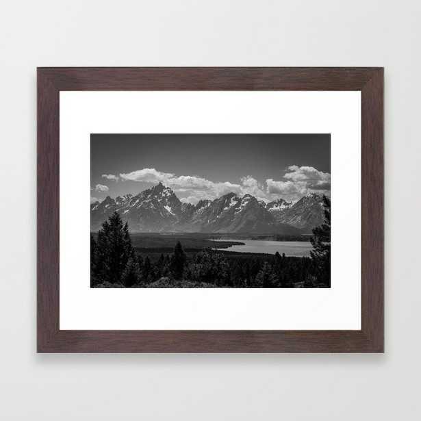 Grand Tetons Snake River View Framed Art Print - Society6