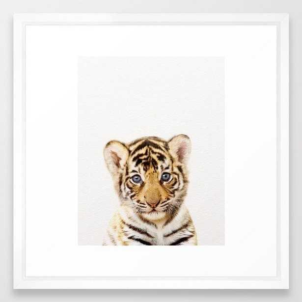 Baby Tiger, Baby Animals Art Print By Synplus Framed Art Print - Society6