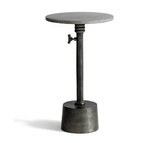 MELVIN MARBLE ADJUSTABLE HEIGHT END TABLE - Pottery Barn