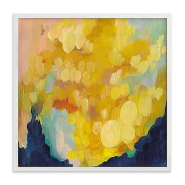 Goldenrod, Full Bleed 16x16, White Wood Frame - West Elm
