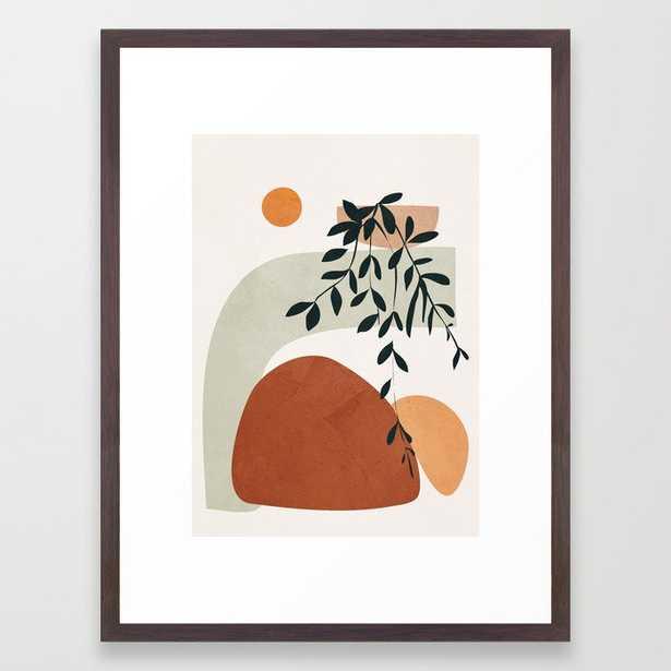 Soft Shapes Framed Art Print (20x26, walnut) - Society6