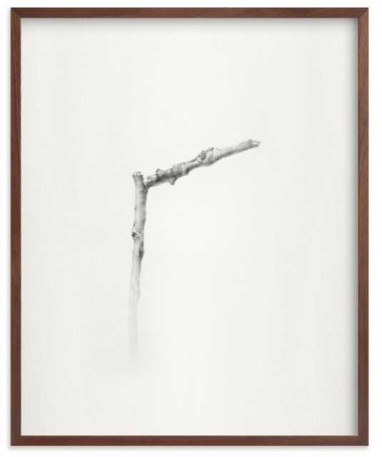 """Twig- Solitude 01, 16"""" x 20"""", walnut frame - Minted"""