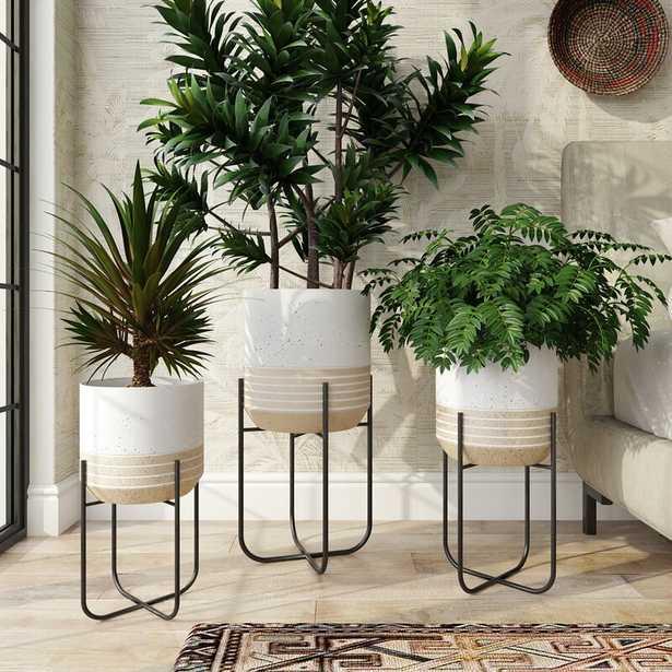 Pascale 3 - Piece Metal Pot Planter Set - Wayfair