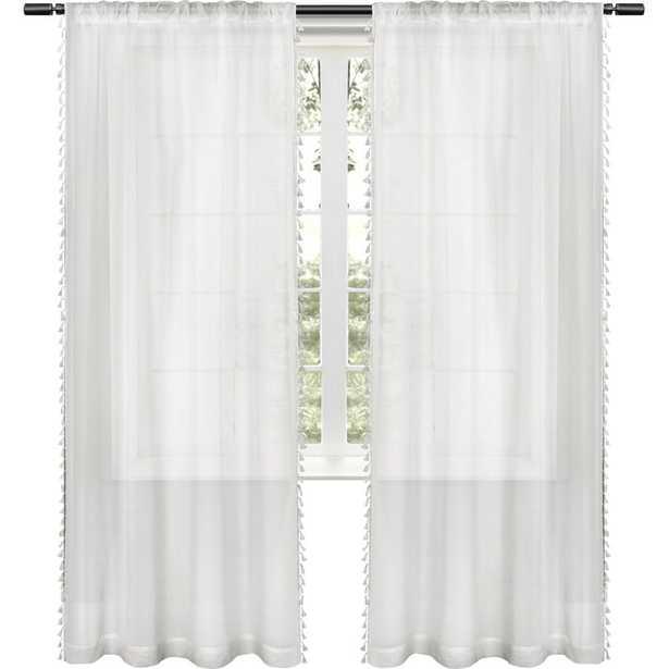 Solid Sheer Rod Pocket Curtain Panels -Set of 2 - Wayfair