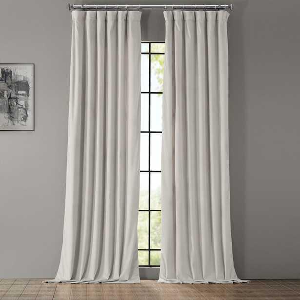 Livia Velvet Solid Color Room Darkening Thermal Rod Pocket Single Curtain Panel - Wayfair