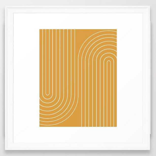 Minimal Line Curvature VIII Framed Art Print - Society6