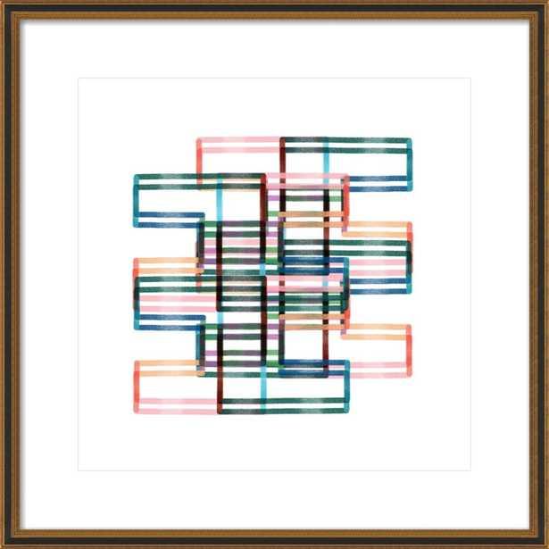 "Kinetic Lines 18, 24"" x 24"" - Artfully Walls"