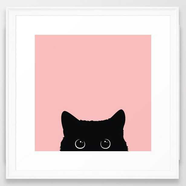 "Black Cat Framed Art Print - 22"" x 22"" - Society6"