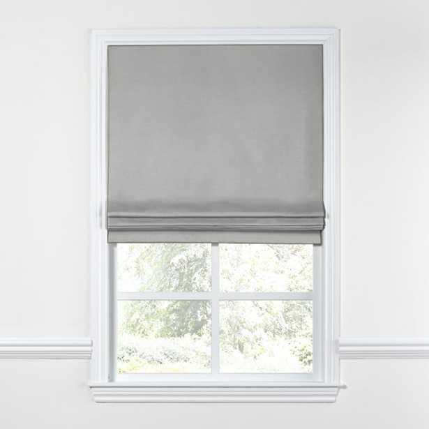 "Flat Roman Shade -Grey-Standadrd Cotton Lining-34""x70"" - Loom Decor"