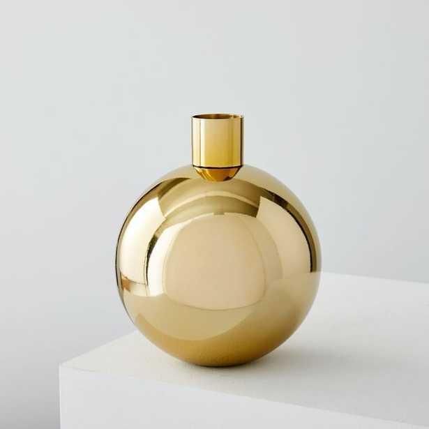 Foundations Metal Vases- Brass,Short Round - West Elm