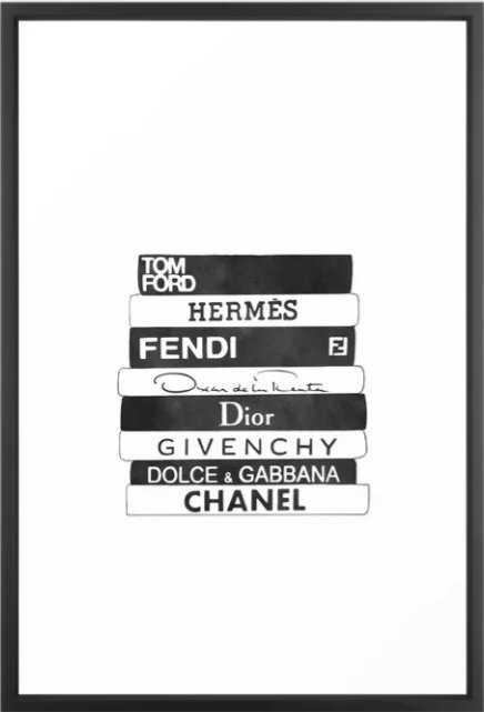 fashion books Framed Art Print - Society6