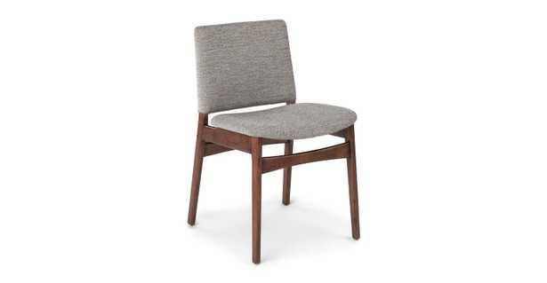 Nosh Quarry Gray Walnut Dining Chair - Article