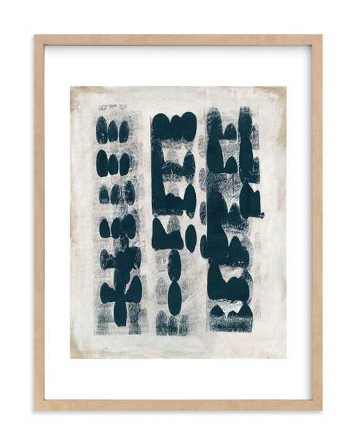 """Domino Effect - DEEP SEA 18 X 24"""" NATURAL WOOD FRAME - Minted"""