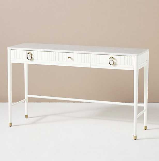 Marcelle Console Table / White - Anthropologie
