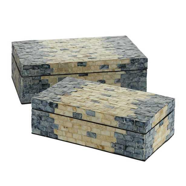 Lucent 2 Piece Decorative Box Set - Wayfair