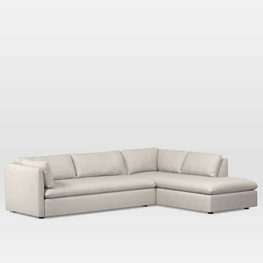 Shelter Set 1: Left Arm Sofa, Right Arm Terminal Chaise, Twill, Wheat - West Elm