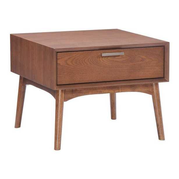 Design District Side Table Walnut - Zuri Studios