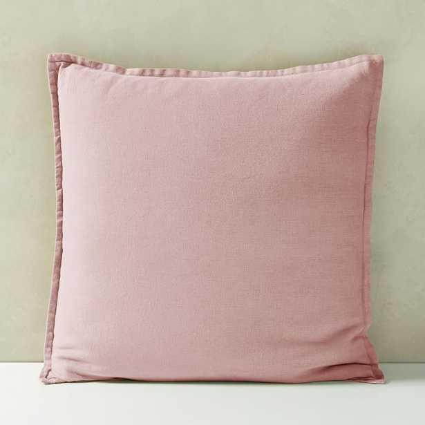 """Belgian Flax Linen Pillow Cover, Adobe Rose, 20""""x20"""" - West Elm"""