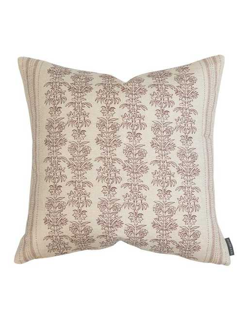 """DEMI FLORAL STRIPE PILLOW COVER, 24"""" - McGee & Co."""