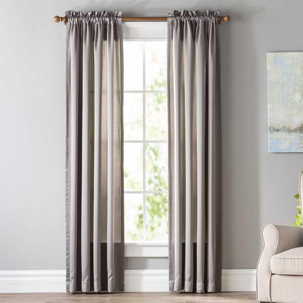 Wayfair Basics Solid Room Darkening Rod Pocket Single Curtain Panel - Wayfair