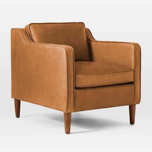 Hamilton Leather Chair / Charme Leather / Burnt Sienna-Individual - West Elm