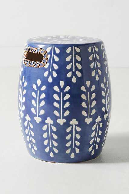 Griffin Ceramic Stool - Anthropologie